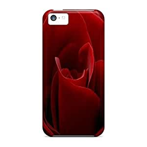 Durable Defender Cases For Iphone 5c Covers(red Rose)