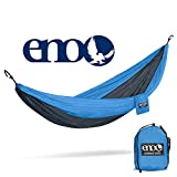 ENO - Eagles Nest Outfitters DoubleNest Hammock, Portable Hammock for Two, Teal/Charcoal