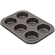 "TrueCraftware Six Cup Muffin Pan - Non Stick - Carbon Steel - 10 1/2 X 7 1/2 X 1"""