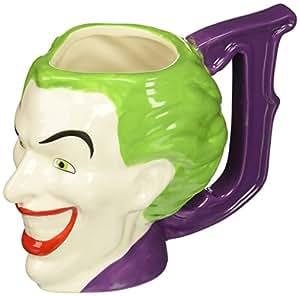 Zak Designs BTMC-8512 Batman Comics Joker Ceramic sculpted Mug, Multicolor