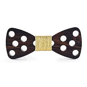 Corbata Moda Pajarita de Madera para Hombre Polka Dot Recorte ...