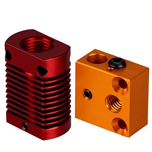 Jacana Boutique 3D Printer Accessories Heating block CR10S printhead heating aluminum block heatsink DIY hot End ()