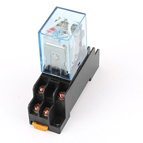 - uxcell AC 110V Coil Power Relay 10A DPDT LY2NJ with PTF08A Socket Base