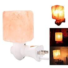15W Mini Salt Lamp Hand Carved Natural Himalayan Crystal Salt Lamp Night Light With Wireless Bulb