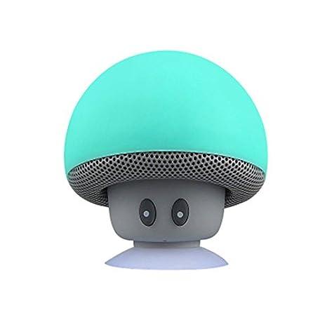 JSGJYX Altavoz Bluetooth 1PSC Mini Altavoz Bluetooth Portátil inalámbrico de Altavoces Tipo Seta Fuerte Bass Audio Portátil MP3 Player Caixa de Som para ...