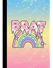 BRAT: Pastel Goth DDLG Adult Diary Notebook 100 lined pages