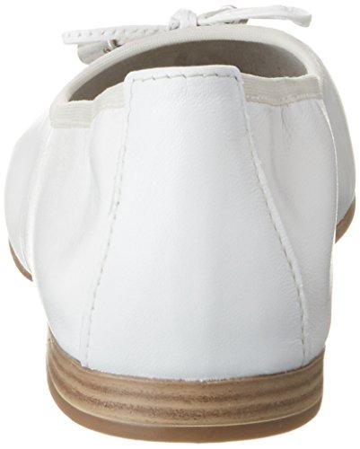 S.oliver Signore 22112 Chiusi Ballerine Bianche (bianco 100)