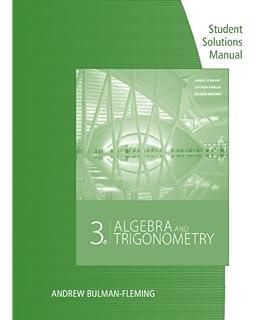 Algebra And Trigonometry James Stewart Lothar Redlin Saleem