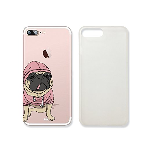 Cute Pug Dog Clear Transparent Plastic Phone Case Phone Cover for Iphone 7_ SUPERTRAMPshop (VAS907.7sl)
