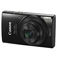 Canon PowerShot ELPH 190 IS Digital Camera (Black) + Transcend 32GB Memory Card + Camera Case + USB Card Reader + Screen Protectors + Memory Card Wallet + Cleaning Pen + Great Value Accessory Bundle from Canon