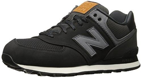 New Balance 574v1 Core Plus, Sneaker Basse Uomo Nero (Black)