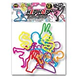 Rubba Bandz Shaped Rubber Bands Bracelets 12Pack Hip Hop