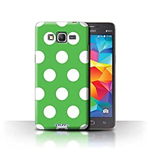 STUFF4 Phone Case / Cover for Samsung Galaxy Grand Prime / Green Design / Polka Dot Pattern Collection