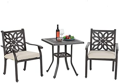 Sophia William Patio 3 Pieces Dining Set Outdoor