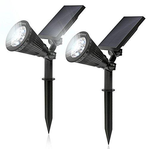 Ankway Solarleuchten Solarlampen Wasserdicht Beleuchtung für Garten / Outdoor Landscape Solar Spotlight 2 stück
