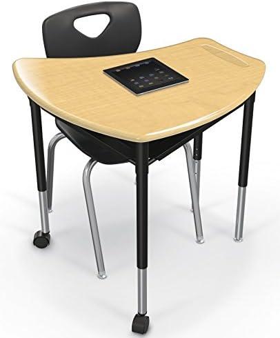 Gray Nebula Black Base Hard Plastic Top 91115 MooreCo Shapes Desk Complete 4 Glides