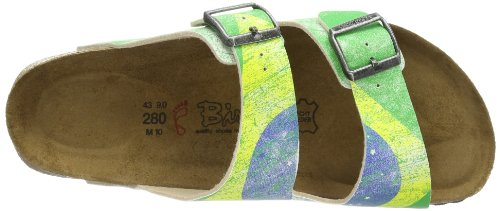 Birkis SANTIAGO BF DF 513421 Unisex-Erwachsene Clogs & Pantoletten Grün (FLAG BRAZIL)