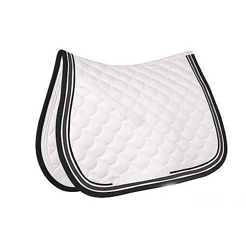 Roma Crescent AP Saddle Pad White/Gray/Black (White Saddle Pad)
