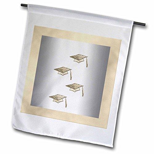 Beverly Turner Graduation Design - Gold Graduation Caps o...