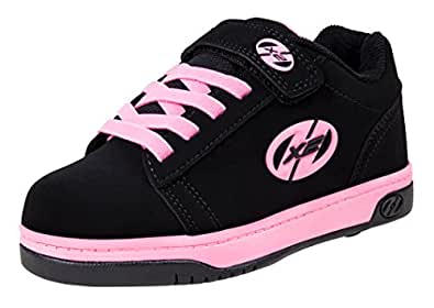 Heelys Dual Up Skate Shoe (Little Kid/Big Kid), Black/Pink, 1 M US Little Kid