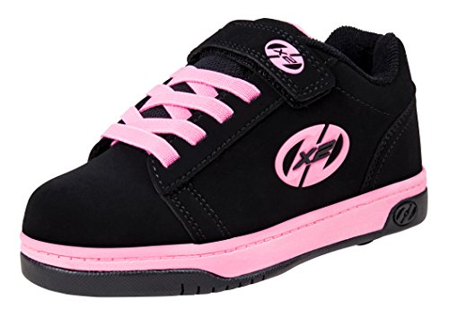 Pink Black Heelys - Heelys Dual Up Skate Shoe (Little Kid/Big Kid), Black/Pink, 1 M US Little Kid