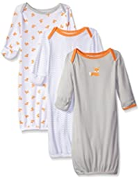 Unisex Baby Gowns, 3-Pack