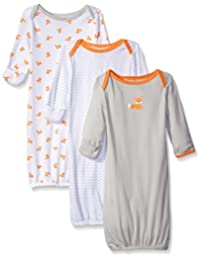 Luvable Friends baby-girls Baby 3 Pack Cotton Gown