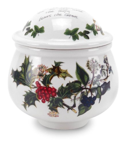 Portmeirion Holly and Ivy Covered Sugar Bowl