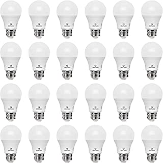 Great Eagle A19 LED Light Bulb, 9W (60W Equivalent), UL Listed, 4000K (Cool White), 750 Lumens, Non-dimmable, Standard Replacement (24-Pack)