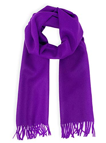 Luxury 100% Pure Baby Alpaca Wool Scarf for Men & Women - A Great Gift Idea in Many Colors (Eclectic Purple) ()