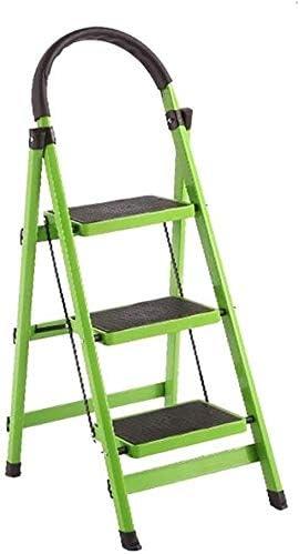 DY 3 Pasos de Escalera Plegable de Aluminio for Uso doméstico Taburete, Conveniente Foot Stool, Escalera de luz Interior y Exterior (Color : Green): Amazon.es: Hogar