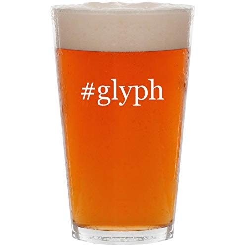 Price comparison product image #glyph - 16oz Hashtag Pint Beer Glass