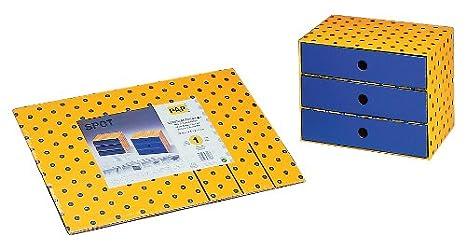 Nips - Cajonera pequeña (32 x 24,5 x 24,5 cm, cartón ...