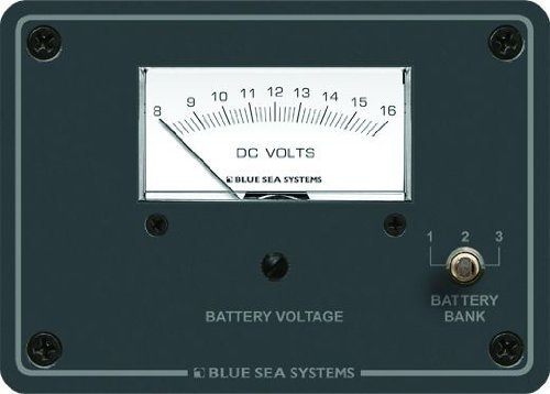 Blau Sea Systems DC Analog 8 bis 16 V DC Voltmeter Panel von Blau Sea Systems