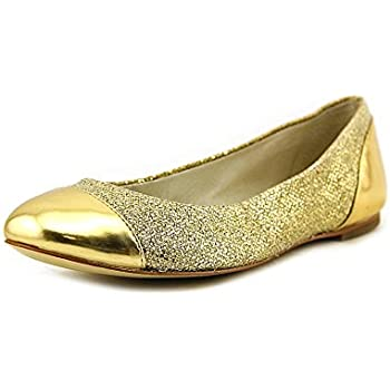 b65ccca51835 Michael Kors Shala Ballet Gold Leather Flat Women Size 10 M