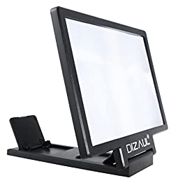 Dizaul Screen Magnifier for cell Phone, 3D HD Movie Video Amplifier, with Foldable Holder Stand compatible with iPhone X…