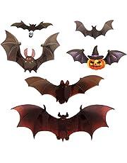 Hilloly 3D vleermuizen, 60 stuks, vleermuis, zwart, PVC, vleermuizen, decoratie voor ramen, muur, deur, binnen en buiten, Halloween-feestaccessoires