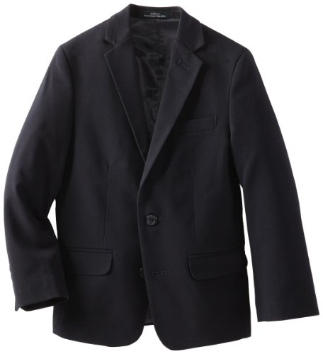 Calvin Klein Big Boys' Bi-Stretch Blazer, Navy, 16