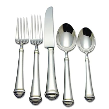 Reed & Barton Allora 18/10 Stainless Steel 5-Piece Place Setting, Service for 1