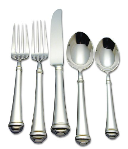 - Reed & Barton Allora 18/10 Stainless Steel 5-Piece Place Setting, Service for 1