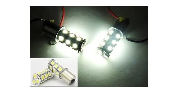 2x BA15s 1156 382 P21W Bulb 30 SMD LED 15W Tail Reverse Stop Brake Light Red New