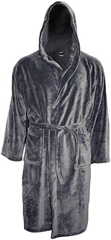 Close Up Henry's Cozy Fleece szlafrok kąpielowy – damski i męski płaszcz poranny, antracyt/szary, szlafrok do sauny rozmiary S – XL: Küche & Haushalt