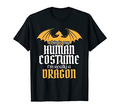 Funny Human Costume But Really a Dragon Halloween