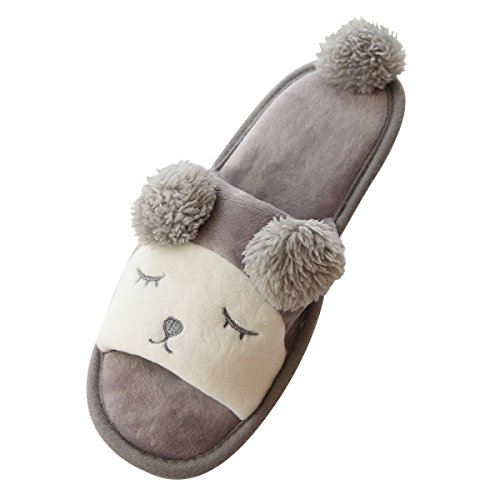 Caramella Bubble sheep Washable House Slippers Open Toe Spa Slide relax couple Slipper (US7-8, Gray)