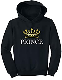 TeeStars - Prince Crown Gift for Son , Brother Little Boys Toddler Hoodie
