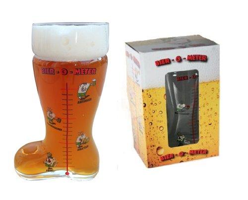 Glas-Bierstiefel 'Bier-O-Meter'