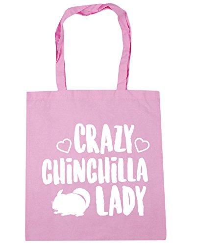 HippoWarehouse Crazy chinchilla damen Einkaufstasche Fitnessstudio Strandtasche 42cm x38cm, 10 liter - Damen, Klassisch Rosa, One size