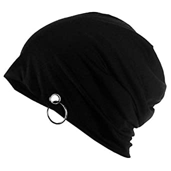 Atyourdoor Beanie Skull Cap with Ring (Cotton Hosiery) for Men and Women(BlackCapwithring01)   Amazon.in  Clothing   Accessories f243d3ef3c