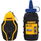 DEWALT DWHT47257L Compact Chalk Reel Kit w/ 4 Oz Container of Blue Chalk