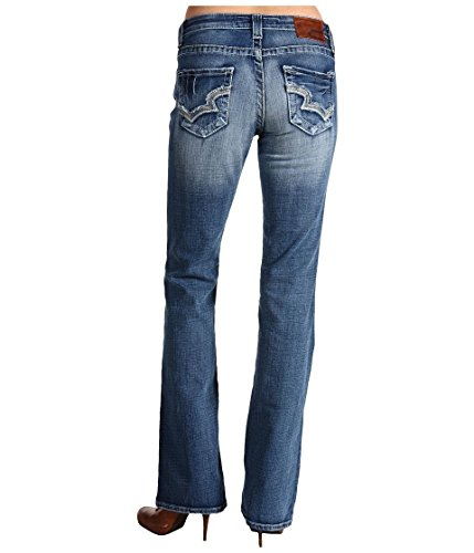 Big Star Hazel Curvy Fit Boot Cut, Rual Blue, Denim Jeans 24 34 Long (Big Star Boot)